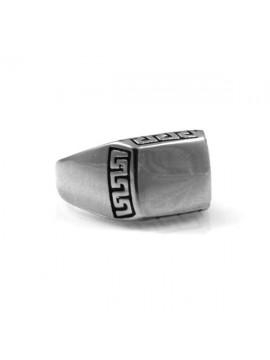 anello uomo in acciaio