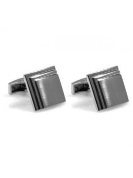 gemelli per camicia in acciaio forma quadrata