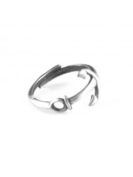 anello con ancora in argento 925