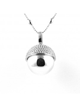 chiama angeli collana ciondolo bola messicana campanellino in bronzo e strass luminosissimo