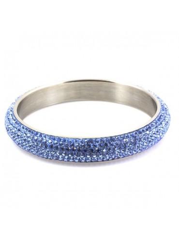 Bracciale svarovski strass azzurro chiaro