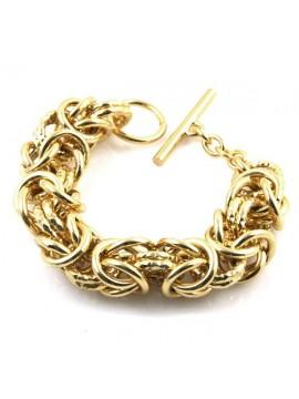 Bracciale donna in bronzo dorato maglia a catena