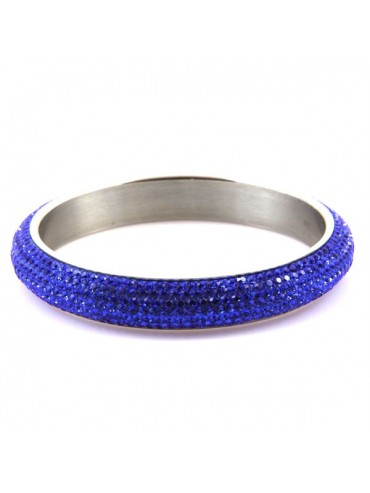 Bracciale donna swarovski rigido colore blu elettrico