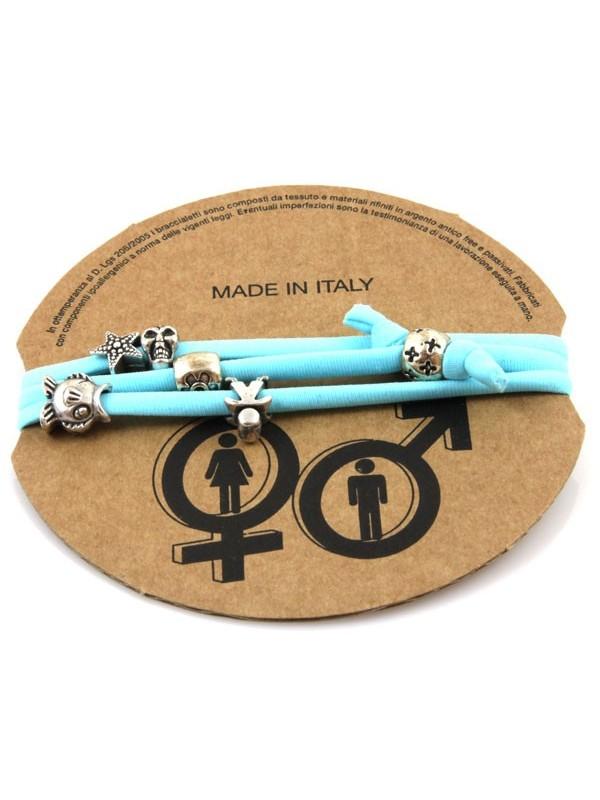Bracciale donna in lycra elastico con beads