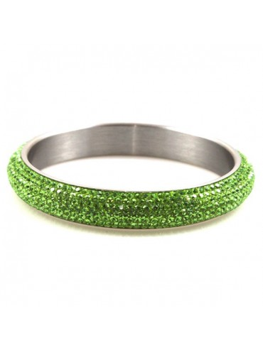 Bracciale donna swarovski acciaio colore verde