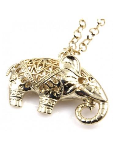 Collana con elefantino in bronzo donna