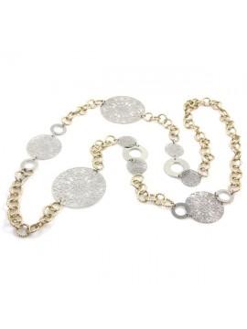 Collana in alluminio catena dorata donna