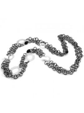 Collana in alluminio catena brunita donna