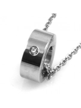 Collana con rotellina bulgarino in acciaio