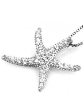 Collana con stella marina in argento 925