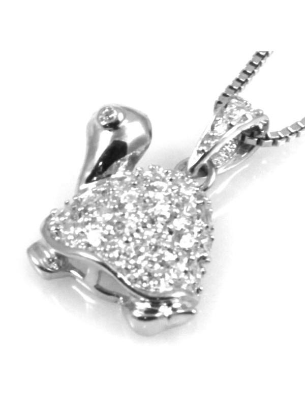 Collana con tartaruga in argento 925