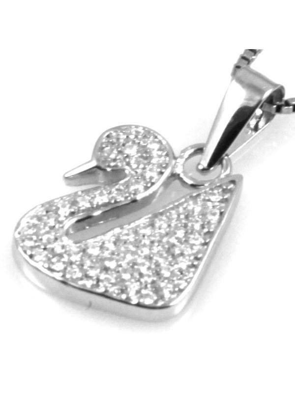 Collana con cigno swarovski in argento 925