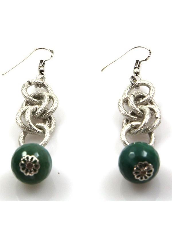 orecchini pendenti in pietre dure colorate