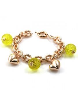 bracciale donna in bronzo ramato modello more di cristallo