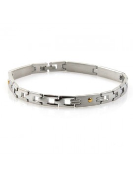 bracciale unisex in acciaio e oro