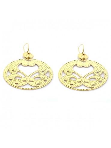 orecchini in bronzo dorato pendenti attacco a monachella