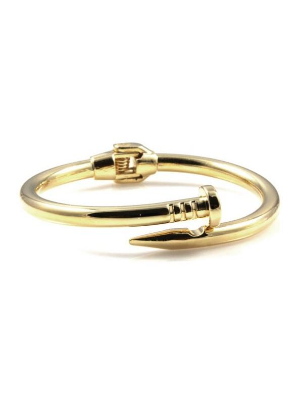 bracciale chiodo dorato in bronzo