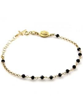 bracciale rosario in argento dorato