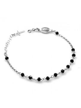 bracciale rosario in argento donna