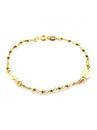 bracciale rosario dorato in argento 925