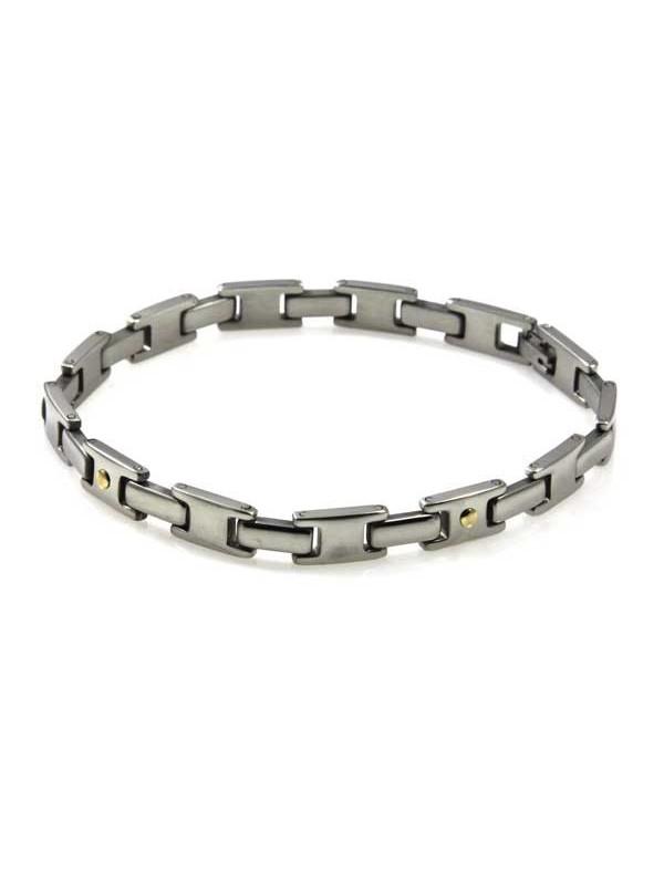 bracciale in acciaio e oro unisex