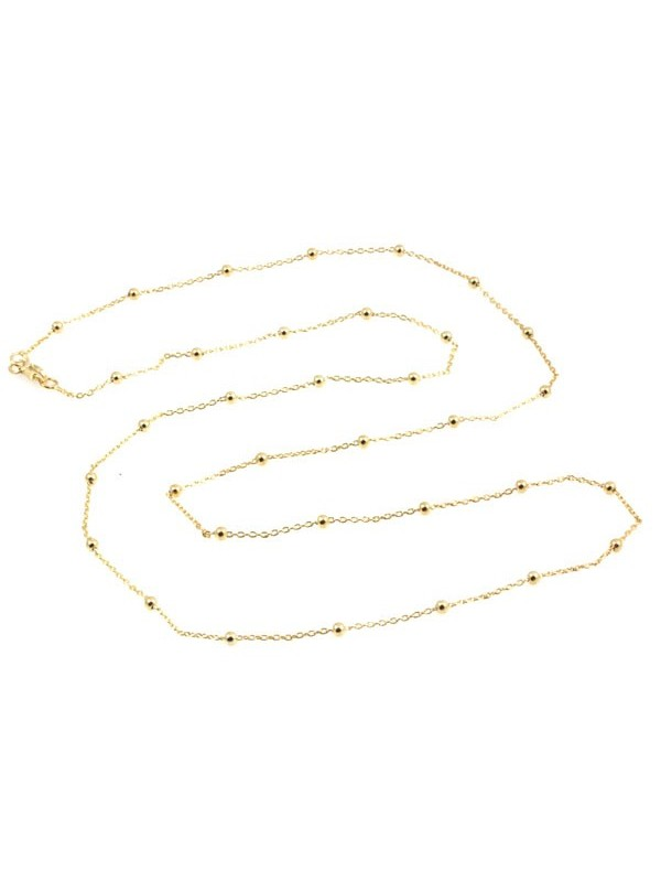 Collana bronzo lunga dorata