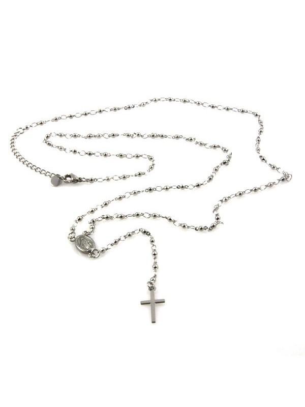 Collana rosario in acciaio