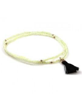 collana rosario tibetano in pietre dure sfaccettate