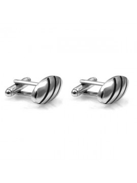 gemelli per camicia in acciaio forma ovale