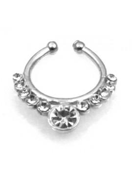 orecchino da naso septum in argento 925