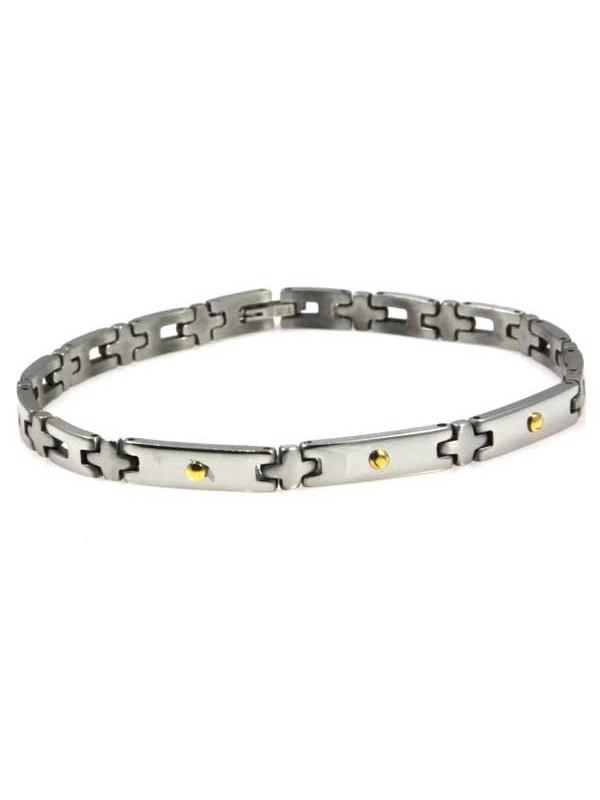 bracciale in acciaio oro unisex