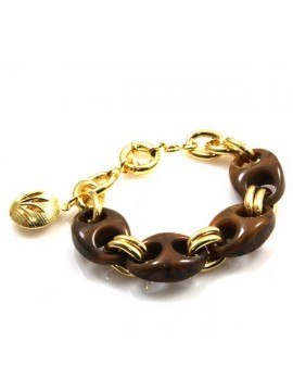 bracciale donna in bronzo e resina colorata