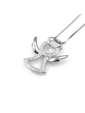 collana con angelo ciondolo pendente in argento 925