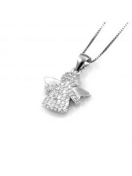 collana con angioletto ciondolo pendente in argento 925