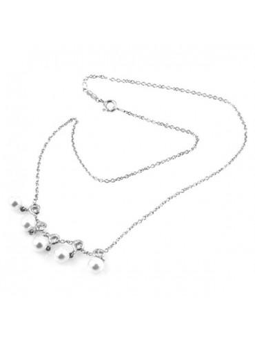 Collana con perle in argento 925