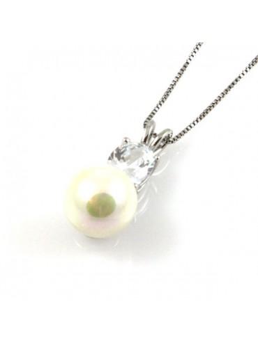 Collana con perla in argento 925