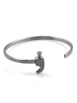 bracciale a martello rigido in acciaio particolarissimo introvabile