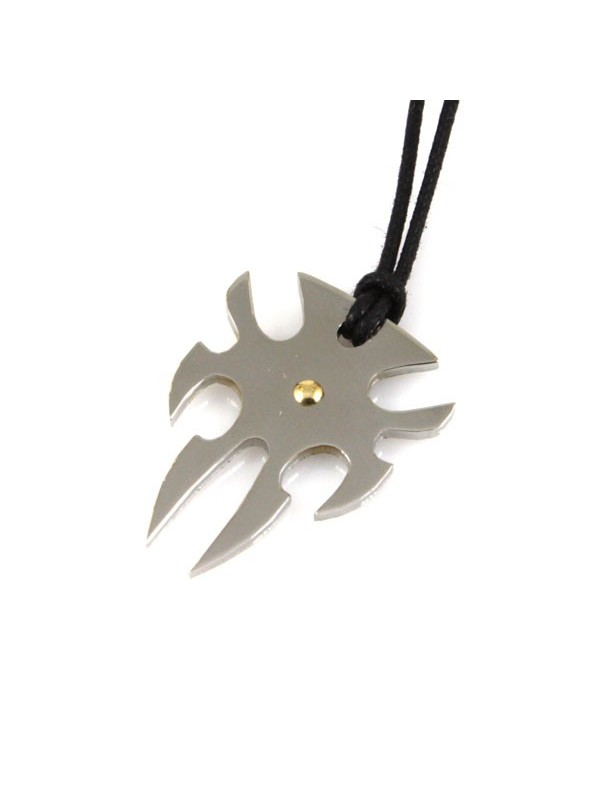 Collana tribale acciaio e oro