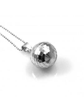 chiama angeli in argento 925 sfera sfaccettata brillantata