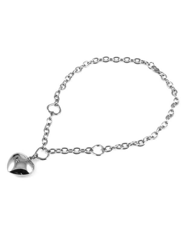 Collana cuore in acciaio