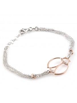 bracciale con coccinella in argento 925 e strass da donna