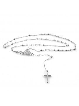 collana rosario in argento 925 gioiello uomo donna