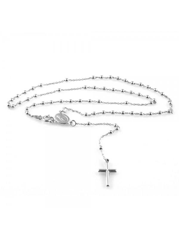 nuovo stile e6335 314f5 collana rosario in argento 925 gioiello uomo donna - cll1458