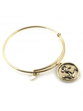 bracciale donna rigido crisalide gioiello dorato con ciondolo ancora misura unica