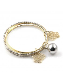 chiama angeli bracciale donna rigido multifili gioiello bola messicana campanellino in bronzo ciondoli farfalle diametro mm 65