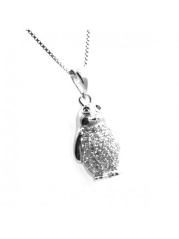 Collana con pinguino in argento 925