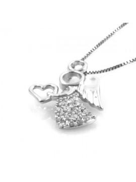 Collana con angioletto in argento 925