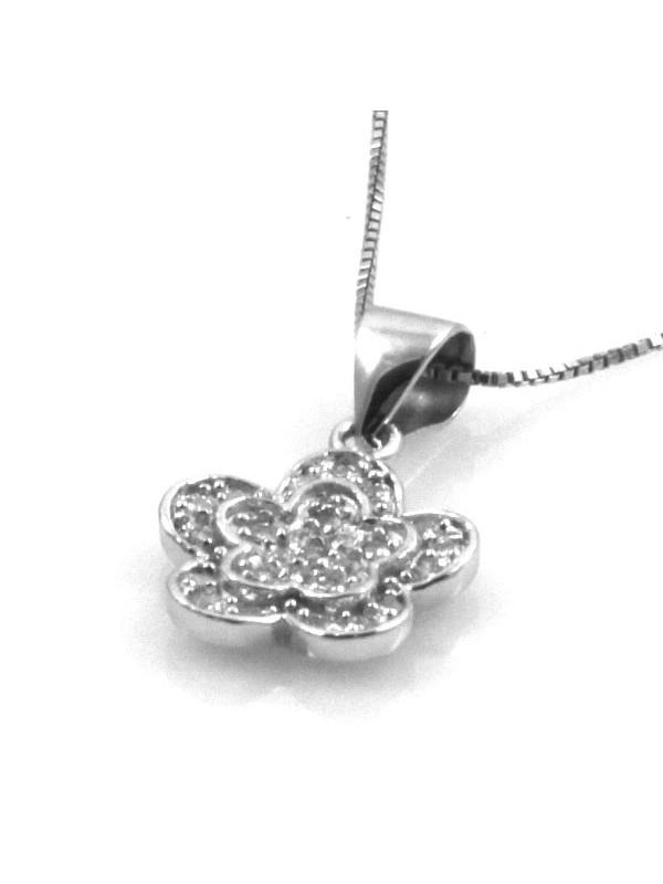 Collana con fiore in argento 925