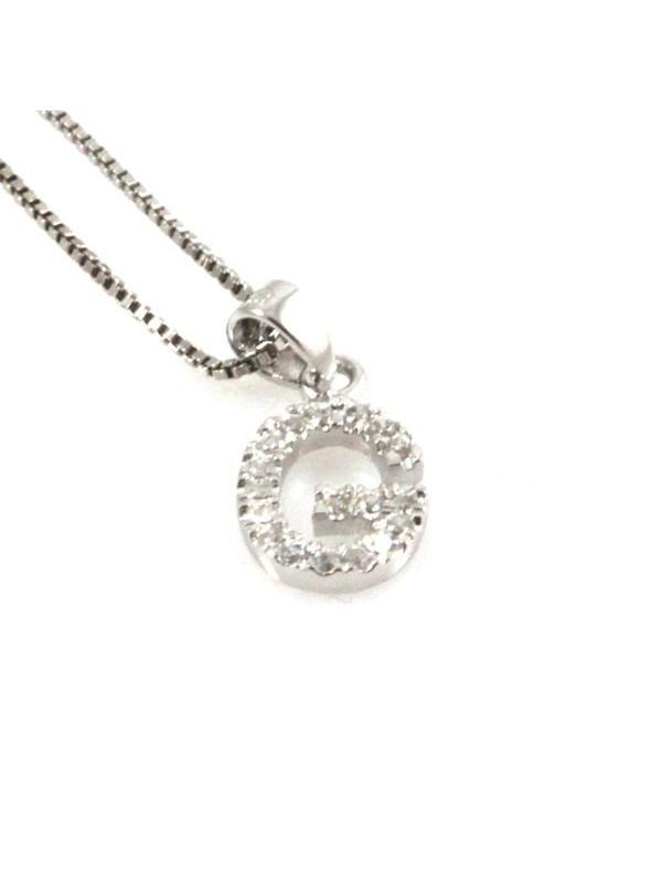 Collana con lettera g iniziale in argento 925