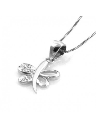 Collana con libellula in argento 925